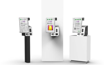 Temperature-checking kiosks are coming soon to a theater (or retailer/hotel/ sports stadium) near you!
