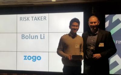 Zogo Wins Finsiders 'Risk Taker' Award at Organization's 2020 CLT Awards